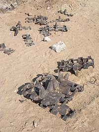 vestiges de tanks - Gaza 2005 ©CUP