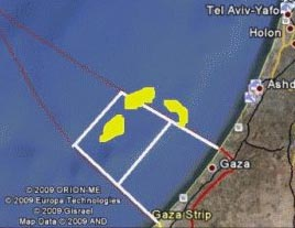 map offshore gaz - Gaza